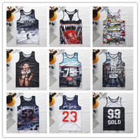 New fashion mens/womens Rihanna 3D tank tops print pyrex 23 catroon floral vest sleeveless letter shirts tops Plus size
