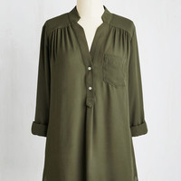 Long 3 Pam Breeze-ly Tunic in Olive