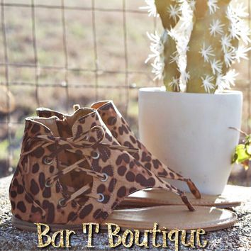 Leopard Dallas Sandals