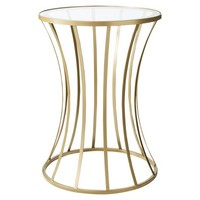 Metal and Glass Accent Table - Gold