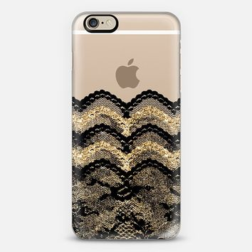 Black and Gold Lace Layers iPhone 6 case by Organic Saturation | Casetify