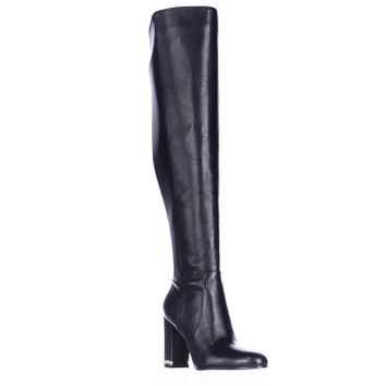 MICHAEL Michael Kors Sabrina Over The Knee Chain Heel Boots, Black, 5.5 US / 35.5 EU
