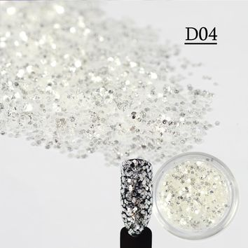 SWEET TREND 1 Bottle New Chameleon Mermaid 3D Nail Tips Clear Color DIY Glitter Shining Nail Art Accessory LAD04