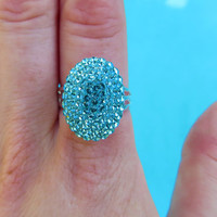 Bella Ring covered with Swarovski Crystals Light by CrystalIcing