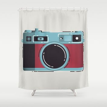 Little Yashica  Shower Curtain by Miguel Angélus Batista