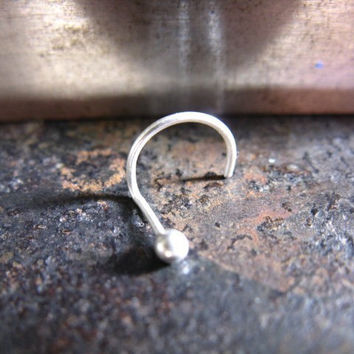 Sterling silver nose stud