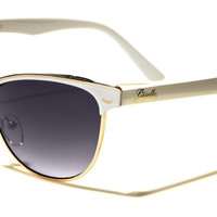Giselle Cat Eye Women's Sunglasses - White