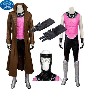 The X-MEN Series Gambit Remy Etienne Cosplay Costume Armor Set High Quality Full Set PU Customize
