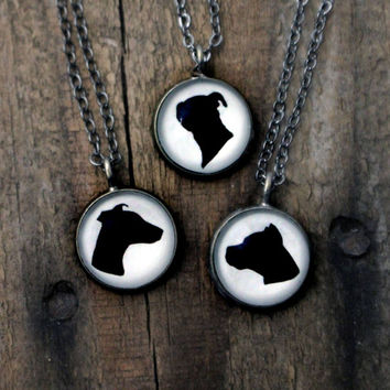 Dog Breed Silhouette Pendant