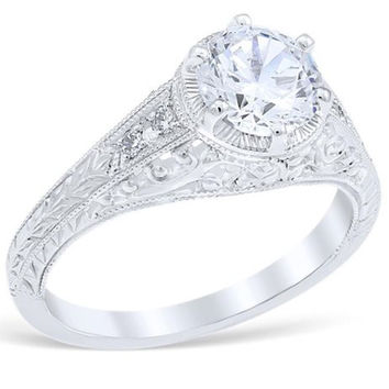 "Whitehouse Brothers ""Heart of the Vineyard"" Diamond Engagement Ring"