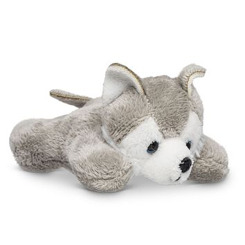 "Single Wolf Husky Mini 4"" Small Stuffed Animal, Zoo Animal Toy, Forest Party Favor for Kids"