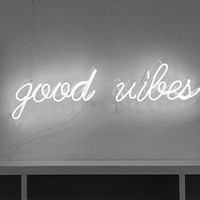 Good Vibes Neon Sign For Living Room Bedroom Home Decor Personalised Handmade Artwork Dimmable Wall Light