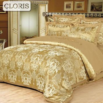 CLORIS Fast Sent Fashion Designer Cotton Bed Sheet Jacquard Bedding Multicolored Modern Comfortable Bedding Set With Pillowcases