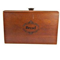 Pine Wood Bread Box with Lid