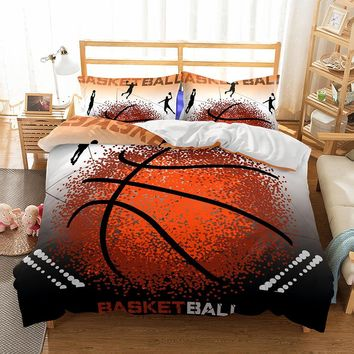Drop shipping 3D Bedding Set  Design Duvet Cover Sets King Queen Twin Size  Dropshipping ball Game BOY Gife Basketball