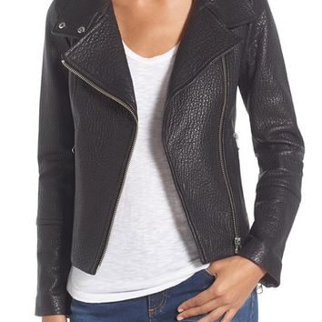 Mackage Funnel Neck Leather Jacket | Nordstrom
