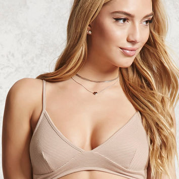 Striped Cutout-Side Bralette