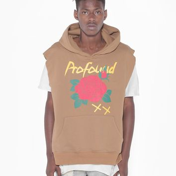Cut Off War of Roses Hoodie in Deep Sand