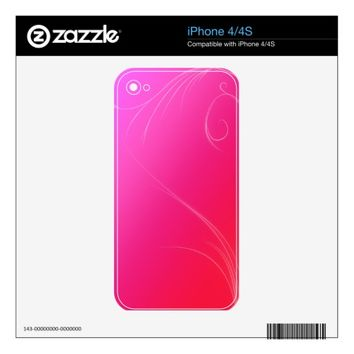 Hot Pink Skins For iPhone 4S