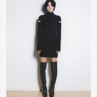 SCUBA WOOL MINI DRESS