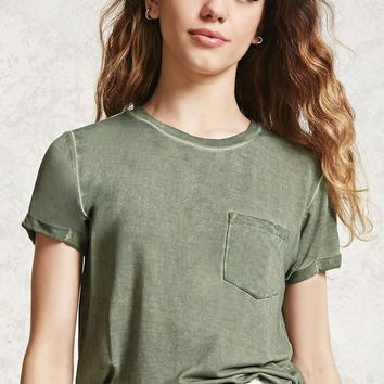 Mineral Wash Pocket Tee