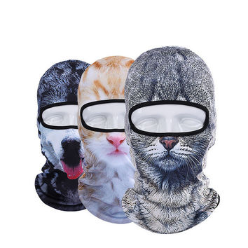 3D Animal Face Mask Outdoor Sports Cap Bicycle Cycling Fishing Motorcycle Ski Full Face Mask