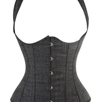 SLIMMING SEXY WOMEN WAIST BUCKLE SHAPER UNDERBUST LACE-UP FASHION JEAN CORSET BASQUES GIRDIE SZ S-6XL READ OUR SIZE CHART