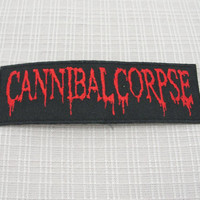 Iron on patch. Cannibal Corpse patch