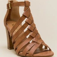 Bali Braided Caged Block Heel