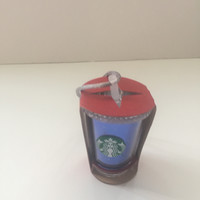 Disney Parks Starbucks Disneyland 60th Diamond Celebration Acrylic Tumbler Ornament