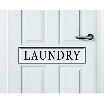 Laundry Quote Wall Decal Sticker Bedroom Room Art Vinyl Inspirational Door Sign Teen Home Mom Clean Wash Dry Fresh Clothes