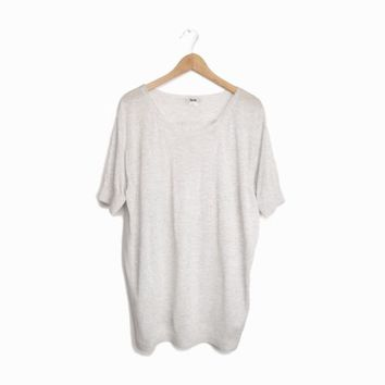 "ACNE Studios ""Blanc Patch"" Sweater Top with Silk Back - Light Gray - EUC - Large"