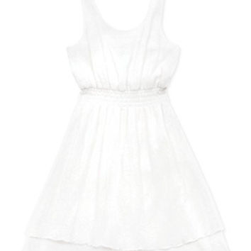 Rare Editions Girls' Gauze Layered Dress