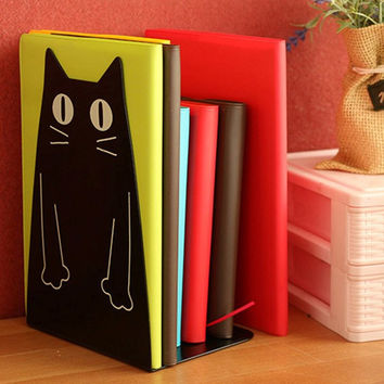 Pair of Metal Cat Bookends