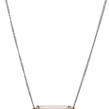 Dana Kellin Fine Jewelry Grey Chalcedony and Diamond Bar Pendant Necklace
