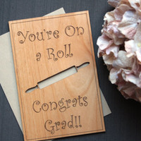 2014 Graduation Card - Wooden Graduation Greeting Cards
