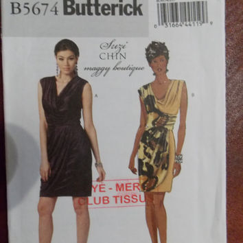 Sewing pattern Butterick 5674 Misses' dresses new uncut size 12 to 20