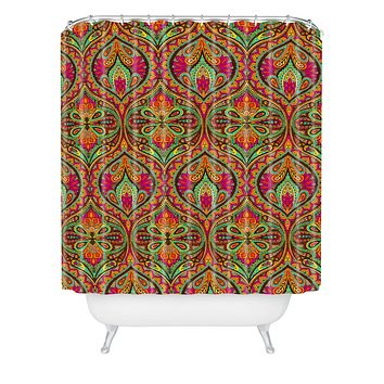 Aimee St Hill Ogee Orange Shower Curtain
