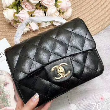 Chanel 2018 new women's exquisite luxury handbag F-AGG-CZDL Black