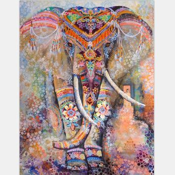 Hippie Elephant Bohemian Mandala Tapestry Wall Hanging Printed Home Decoration