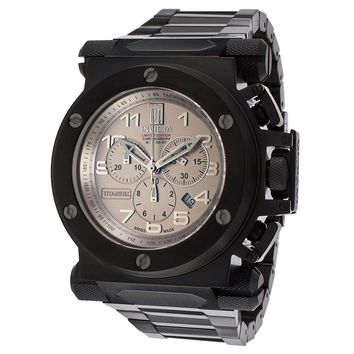 Invicta 14513 Men's Jason Taylor Chronograph Grey Titanium Dial Black IP Steel Watch