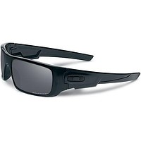 Cheap Oakley Crankshaft Polarised Mens Sunglasses - Matte Black ~ Iridium One Size