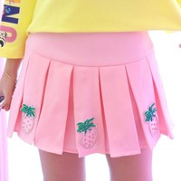 Summer sweet pink pineapple skirt SD00942