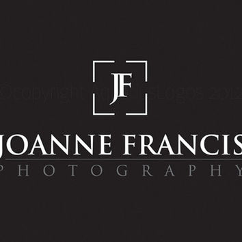 Premade photography logo design using your name and camera icons. Vector and watermark files included.