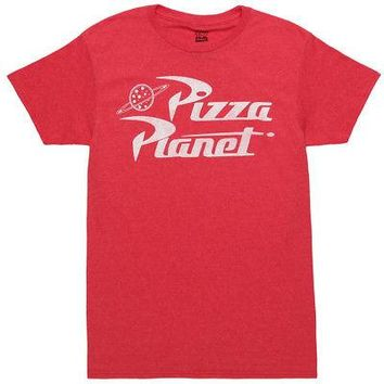Toy Story Pizza Planet Logo Disney Pixar Licensed Adult Unisex T-Shirt - Red