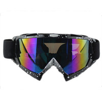 Adult Colourful double Lens Snow Ski Snowboard Goggles Motocross Anti-Fog Fashion Eye Protection Black and White Colourful