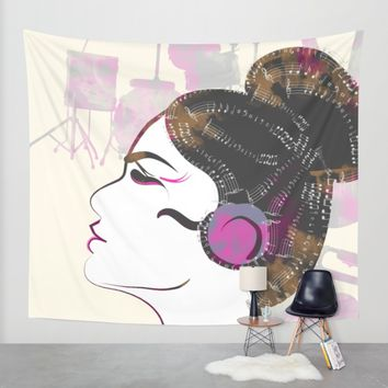 Music Overdose Wall Tapestry by Famenxt | Society6
