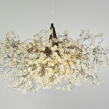 Ceiling Lighting Transparent jumping flowers for Living Room, Dinning room table or bedroom.