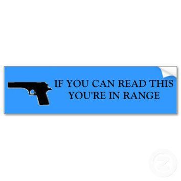 Pro Gun Bumper Stickers from Zazzle.com