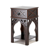 Side Tables, Side Sofa Tables For Living Room Espresso Moroccan-style Side Table